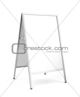 Advertising stand on white background