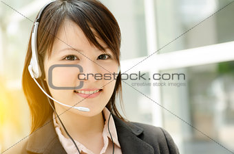 Asian female receptionist