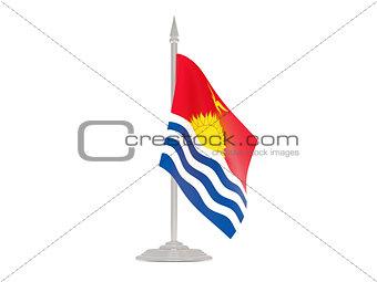 Flag of kiribati with flagpole. 3d render