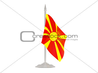 Flag of macedonia with flagpole. 3d render