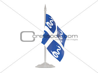Flag of martinique with flagpole. 3d render
