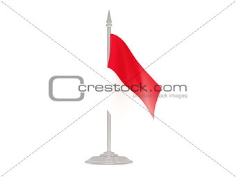Flag of monaco with flagpole. 3d render