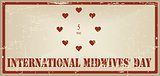 Vintage banner International Midwives Day