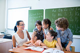 Pupils with teacher