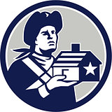 American Patriot Holding House Circle Retro
