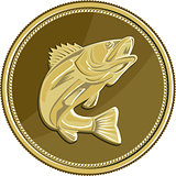 Barramundi Gold Coin Retro