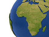 African continent on Earth