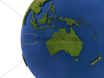 Australasian continent on Earth