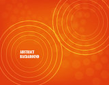 orange abstract background. vector.