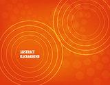 orange abstract background. vector.