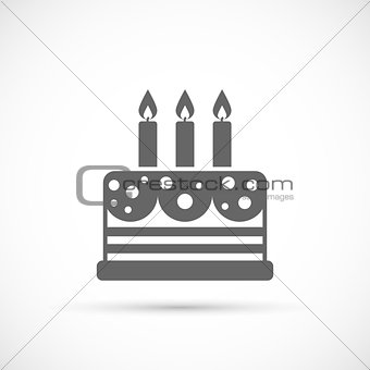 Cake with candles icon