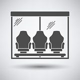 Soccer player's bench icon