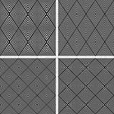 Diamond patterns set. Seamless textures.