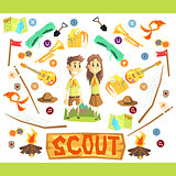 Children Scouts Illustration