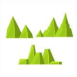 Green Rock Elements Set