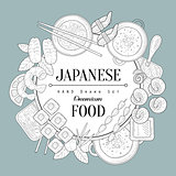 Japaneese Food Vintage Sketch