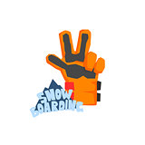 Snowboarding Glove With Logo