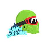 Snowboarding Helmet With Logo