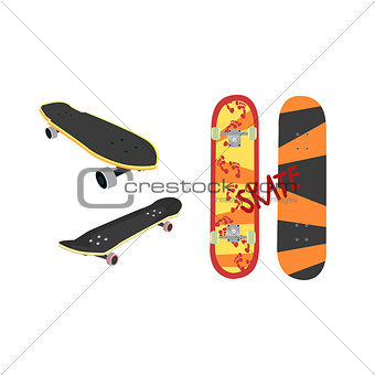 Skateboard Design From Different Angles