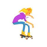Female Skateboarder Image