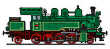 Classic green steam locomotive