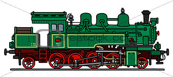 Classic green steam locomotive