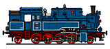 Classic blue steam locomotive