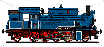 Classic blue steam locomotive