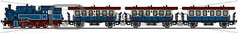 Classic blue steam train