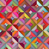 Vector Seamless Multicolor Shades Gradient Rhombus Squares Geometric Pattern