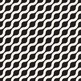 Vector Seamless Wavy Diagonal Line Geometric Pattern
