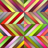Vector Seamless Multicolor Shades Gradient Diagonal Stripes Tiles Geometric Pattern
