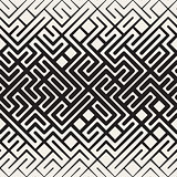 Vector Seamless Rounded Line Maze Irregular Pattern Halftone Gradient