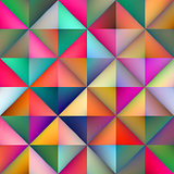 Vector Seamless Multicolor Gradient Triangle Square Tiles Geometric Pattern