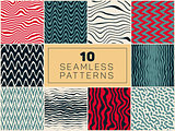 Ten Vector Seamless Hand Drawn Patterns
