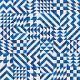 Vector Seamless Irregular Geometric Blocks Pattern