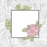 Rose Flower Vintage Frame