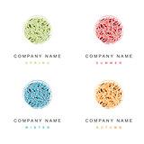 Cosmetic Logo Seasonal Design Set