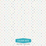 Colourful Dots Vector Texture