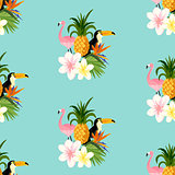 Seamless Tropical Theme background