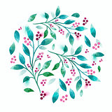 Floral Vector Watercolour