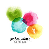 Watercolour Vector Dots
