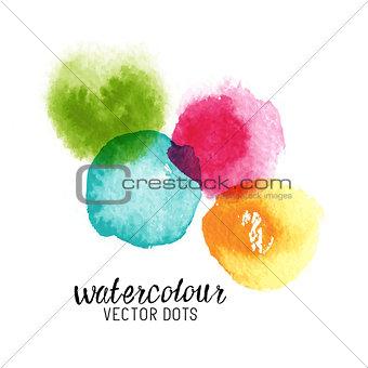 Watercolour Vector Dots