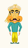 Indian man stylized . vector illustration