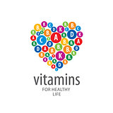 vector logo vitamins