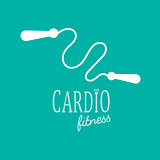 Cardio Training flat icon vector illustration, eps10, easy to edit