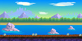 river Game Background for 2d game application