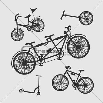 Vector Set Symbols Bike