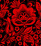 Hohloma seamless pattern