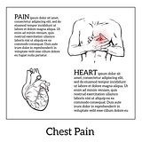 Pain in the heart of a man